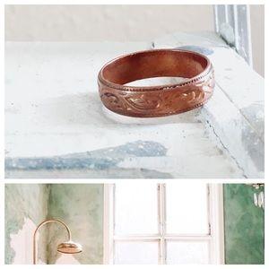 Vintage Copper Ring Unisex